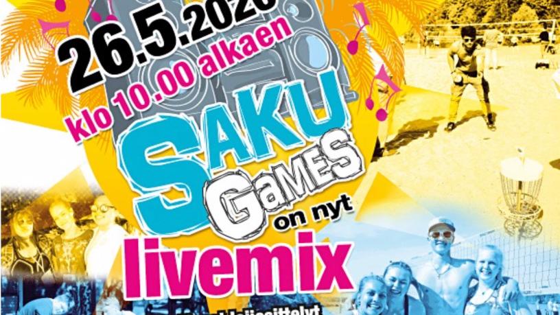 SakuGames Live 26.5. klo 10